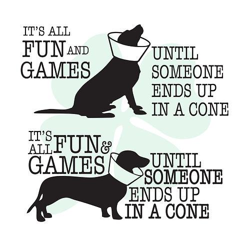 Fun & Games/Cone Vinyl Sticker