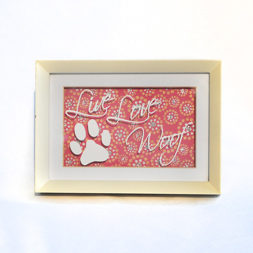 4x6 Live Love Woof Pawprint Frame Art | Custom Vinyl Decals | Clever ...