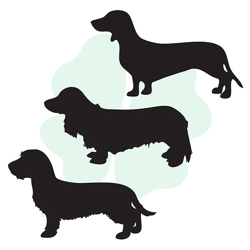 Original Dachshund Vinyl Stickers
