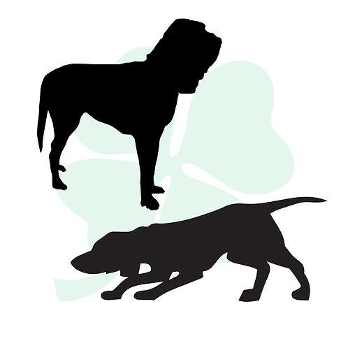 Bloodhound Vinyl Stickers