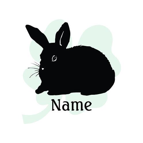 Bunny Vinyl Sticker
