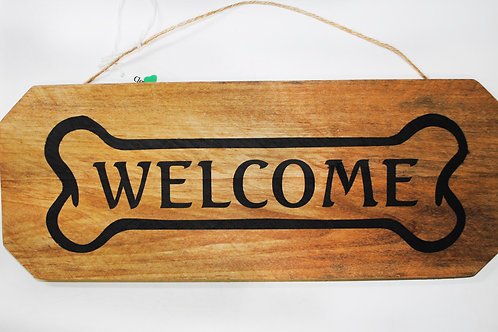 Bone Welcome Pallet Wood Sign Cleverclover