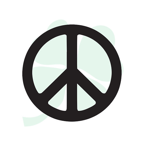 Peace Sign Vinyl Sticker
