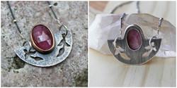 rose-cut pink sapphire