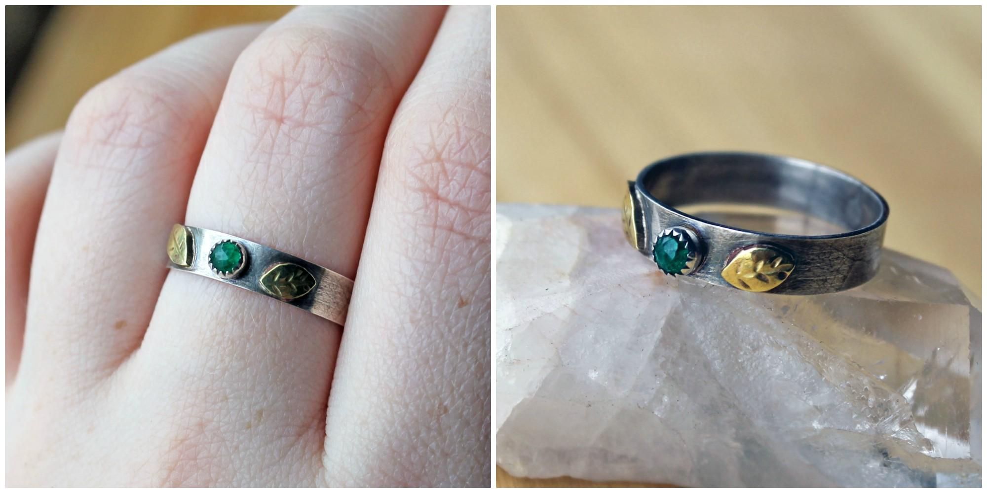 rose-cut emerald