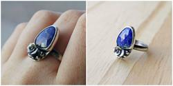 rose-cut lapis lazuli