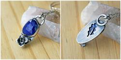 lapis lazuli, sterling silver succulent