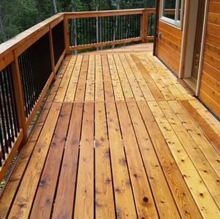 Walk around Deck with new Siding_