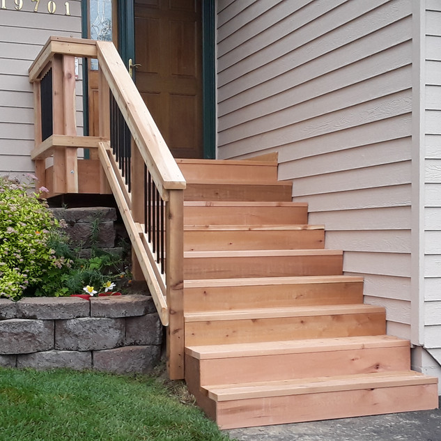 Small Front Landing with Stairs