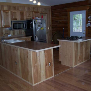 New Kitchen & Flooring in log home.
