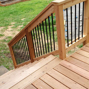 Small Rear Deck with Stairs