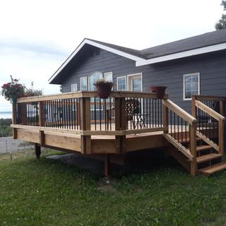 Cedar Back Deck.