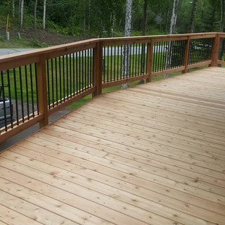 2nd Story Cedar Front Deck.