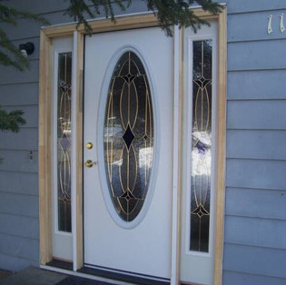 New Front Door with Side Lights.
