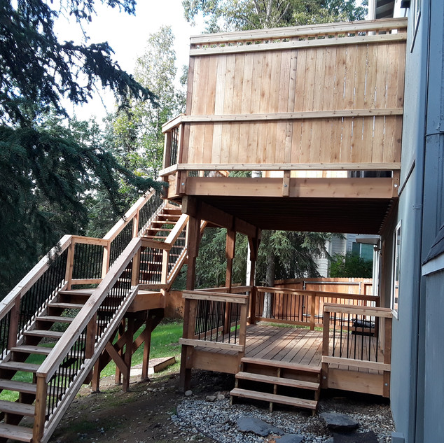 Back Deck with Privacy Wall Angle 4