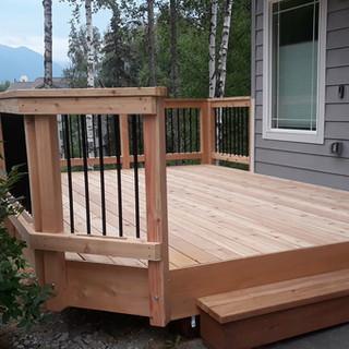 Small Cedar Front Deck.