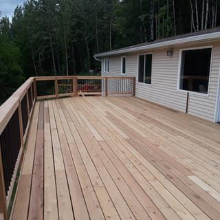 2nd Story Cedar Back Deck.