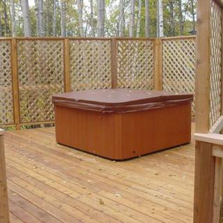 Cedar Back Deck with Privacy Walls