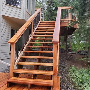 2 Tier Deck Stairway