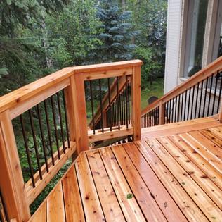 2 Tier Deck Top Stairway