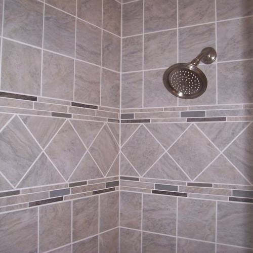 Diamond Design with Accents Bathroom