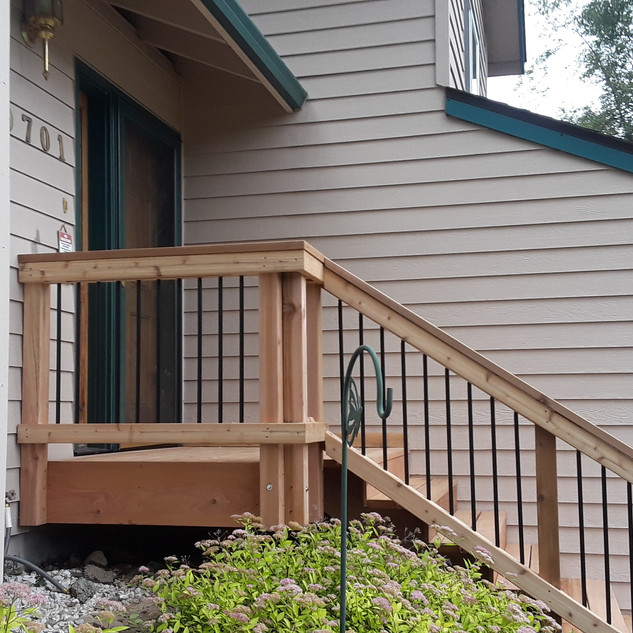 Small Front Landing with Stairs Angle 3