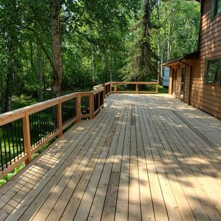 Massive Cedar Back Deck.