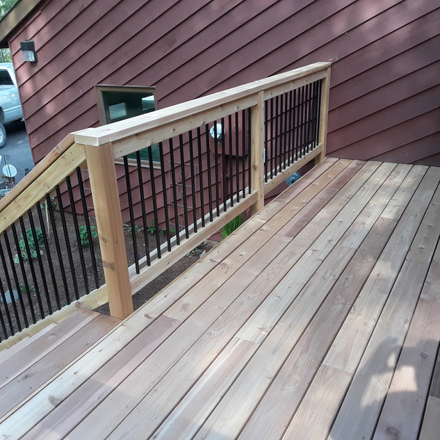 Medium Front Landing with Stairs Angle 2