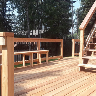 Back Deck with Benches