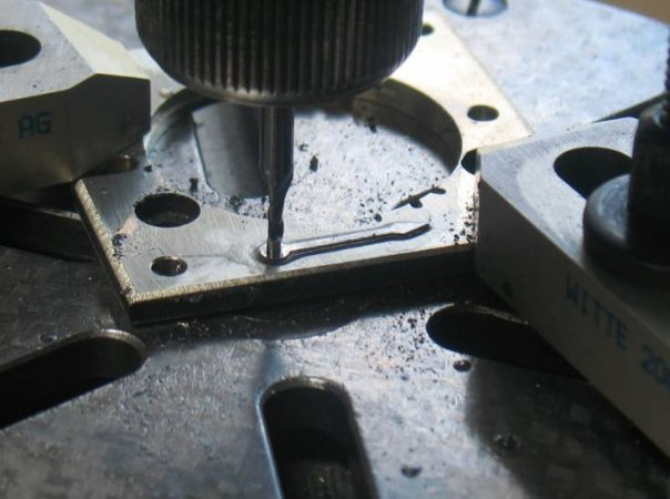 Milling the underside of a hand