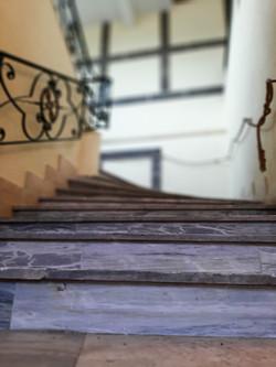 Escalier de l'étage des écuries