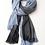 Thumbnail: SHOSHIN- Extrafine merino scarf- Nordic blue