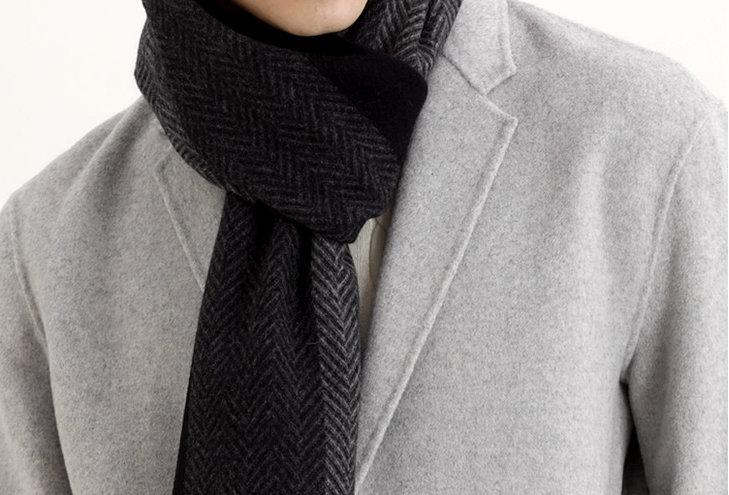 3 SHADES Cashmere blend scarf- grey
