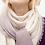 Thumbnail: SHOSHIN- Extrafine merino scarf-Pastel creme lilac