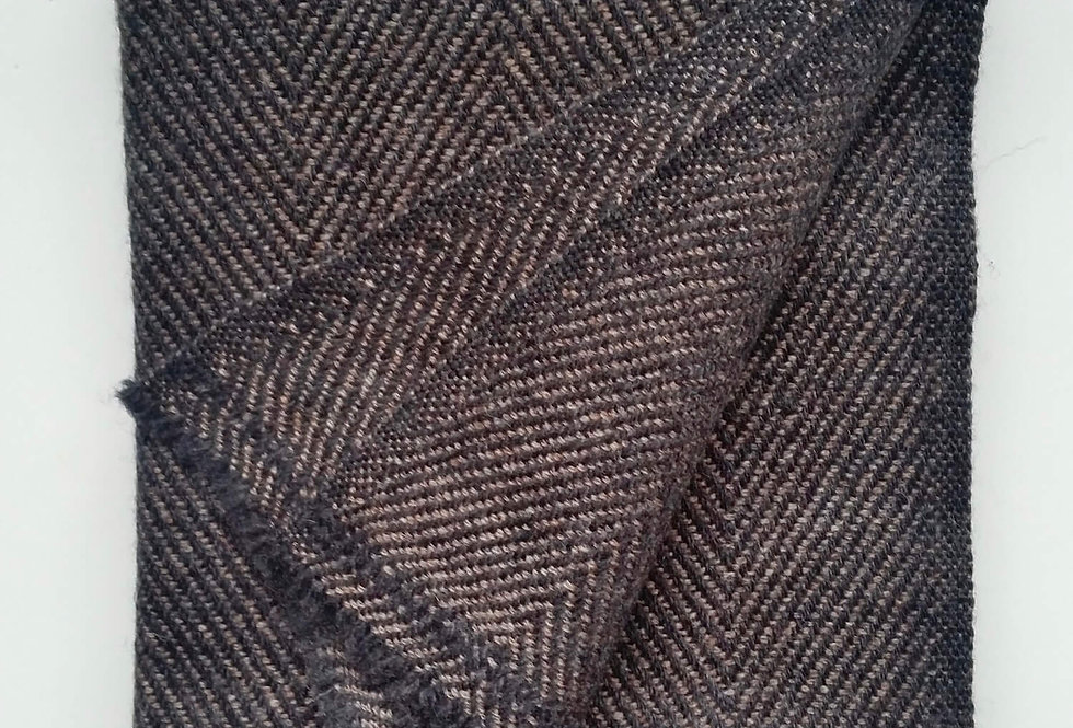 PEAKS Cashmere Blend Woollen Muffler - Charcoal Black