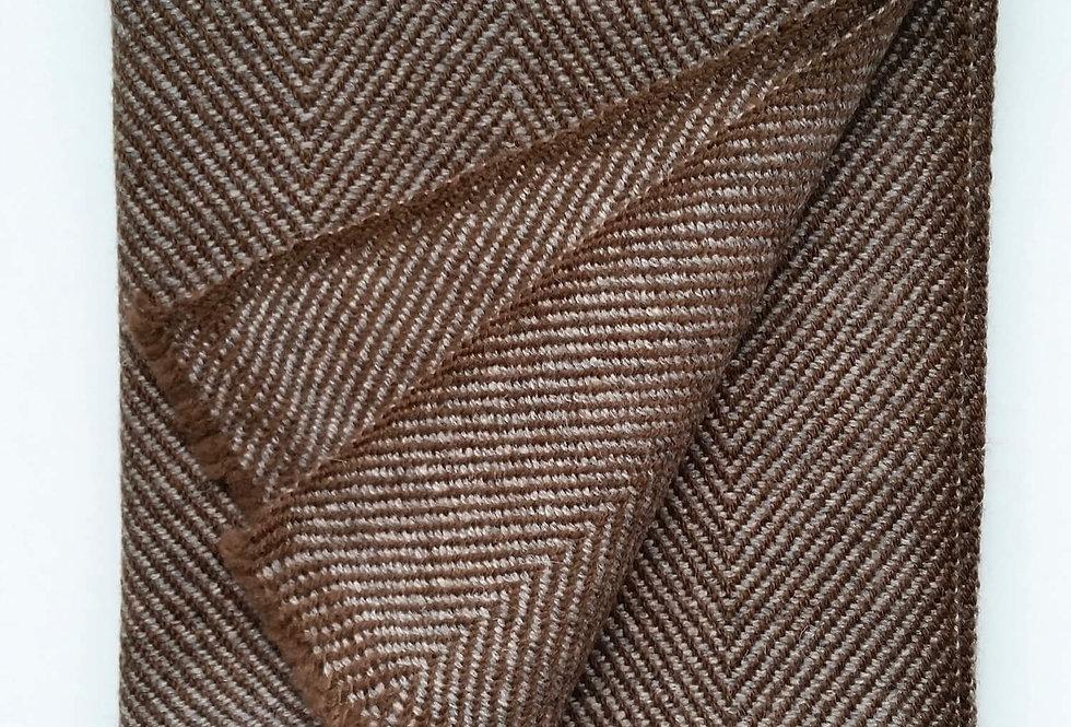 PEAKS Cashmere Blend Woollen Muffler - Brown