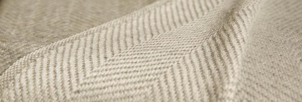 HYGGE Reversible Cashmere Blanket- Silver Grey