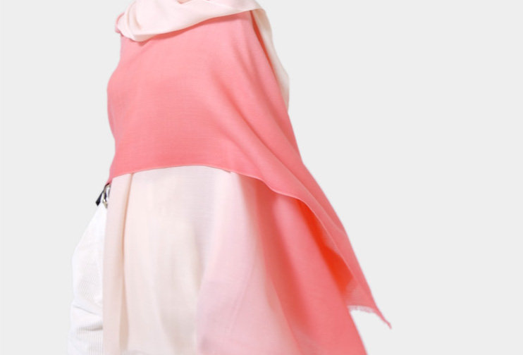 SHOSHIN- Extrafine merino scarf- Cherry blossoms