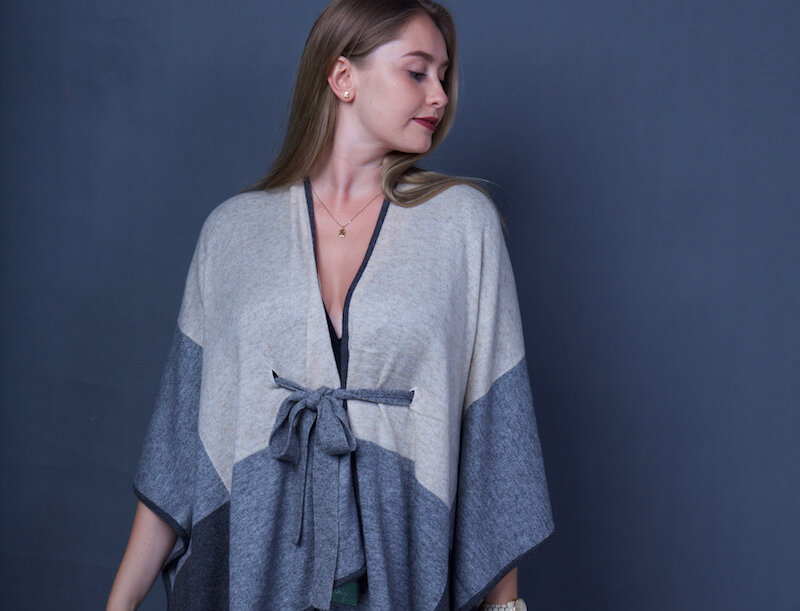 KIMONO Woollen Color Block Edition