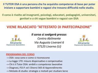 NEWS! Tutor DSA: in arrivo un'importante iniziativa di formazione targata AbilMente+Altramente