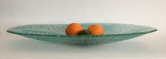 """12x25.5"""" Blue Green Oval - Sold"""