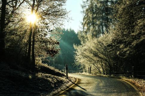Eifelstraße im Winter