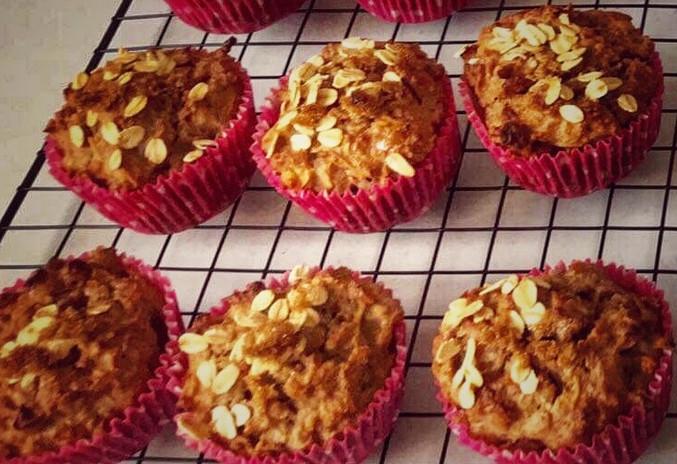 No added sugar apple muffins