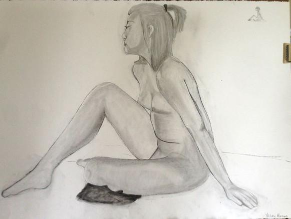 Life Drawing 2016, Charcoal