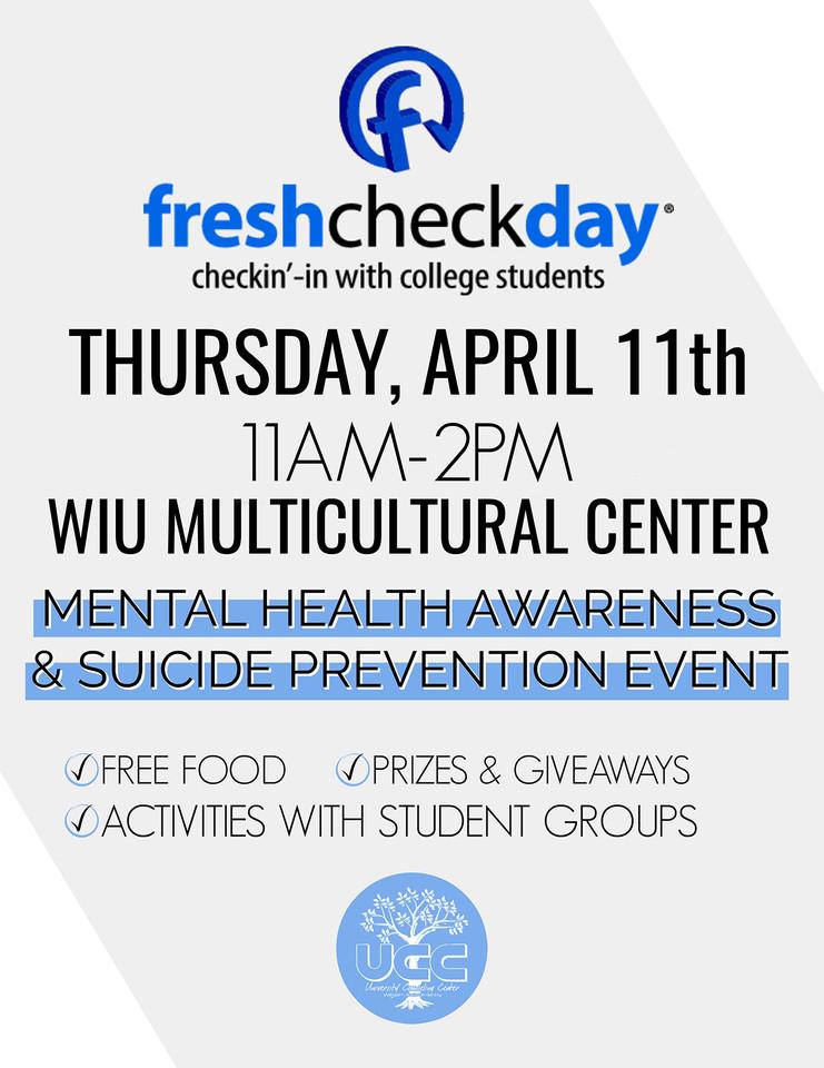 WIU UCC Fresh Check Day, 2019