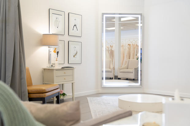 One of our spacious fitting rooms