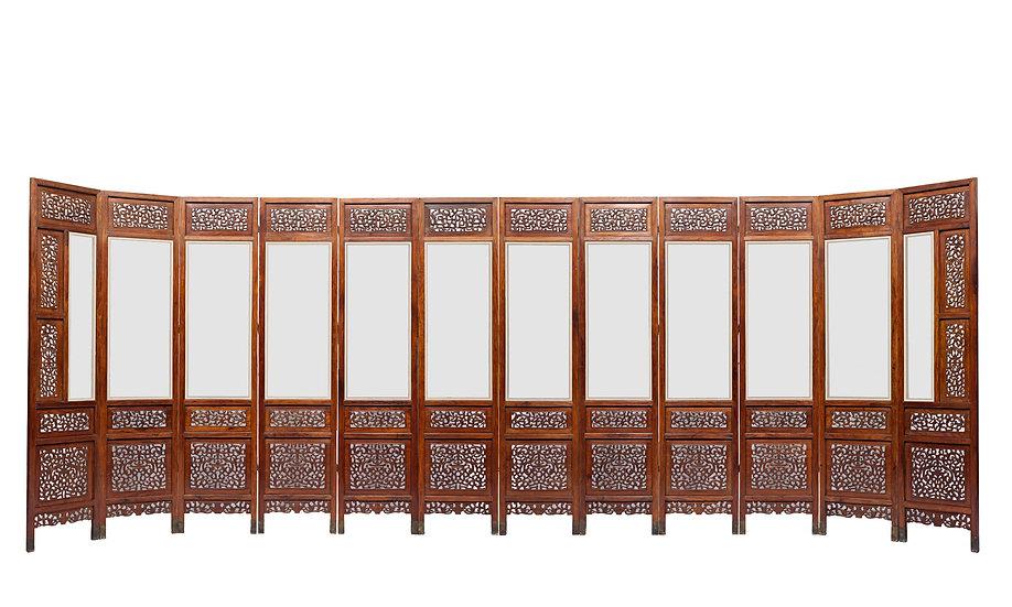 Twelve-Panel Screen