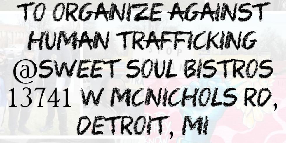 Organizing meeting against Human Trafficking