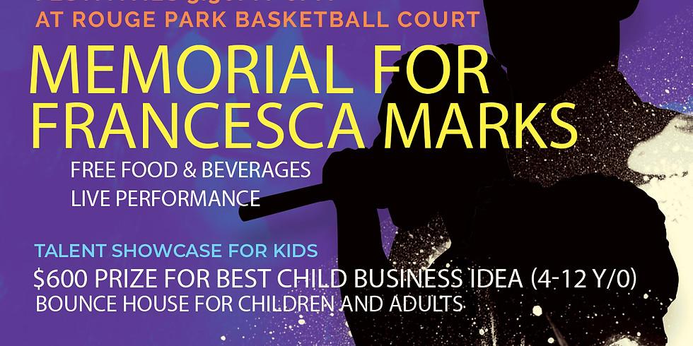 Memorial for Francesca Marks