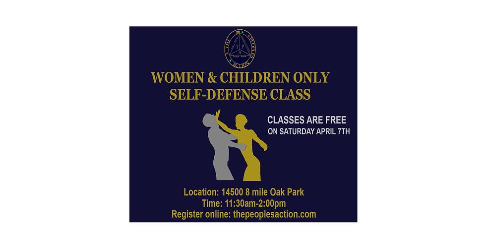 WOMEN & CHILDREN ONLY SELF-DEFENSE CLASS